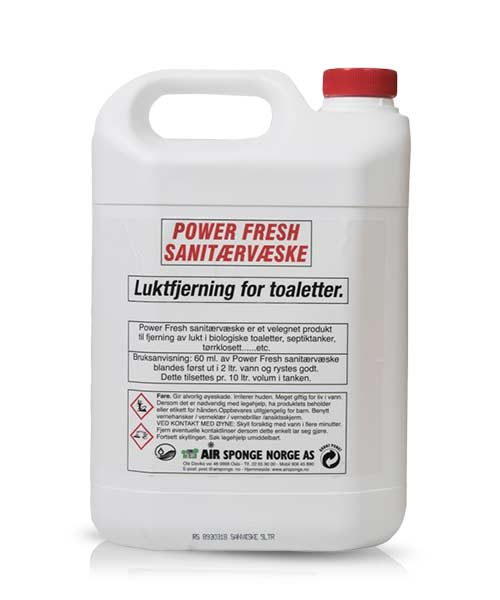 Power Fresh Sanitærvæske (5 liter) 1