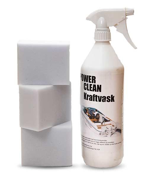 Power Clean 1 stk og 3 stk Nanosvamp 1